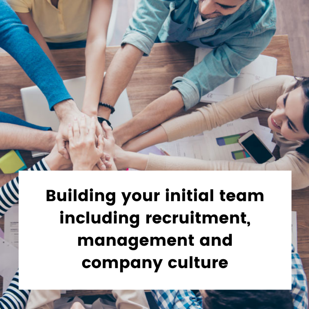 Build your initial new start up business team