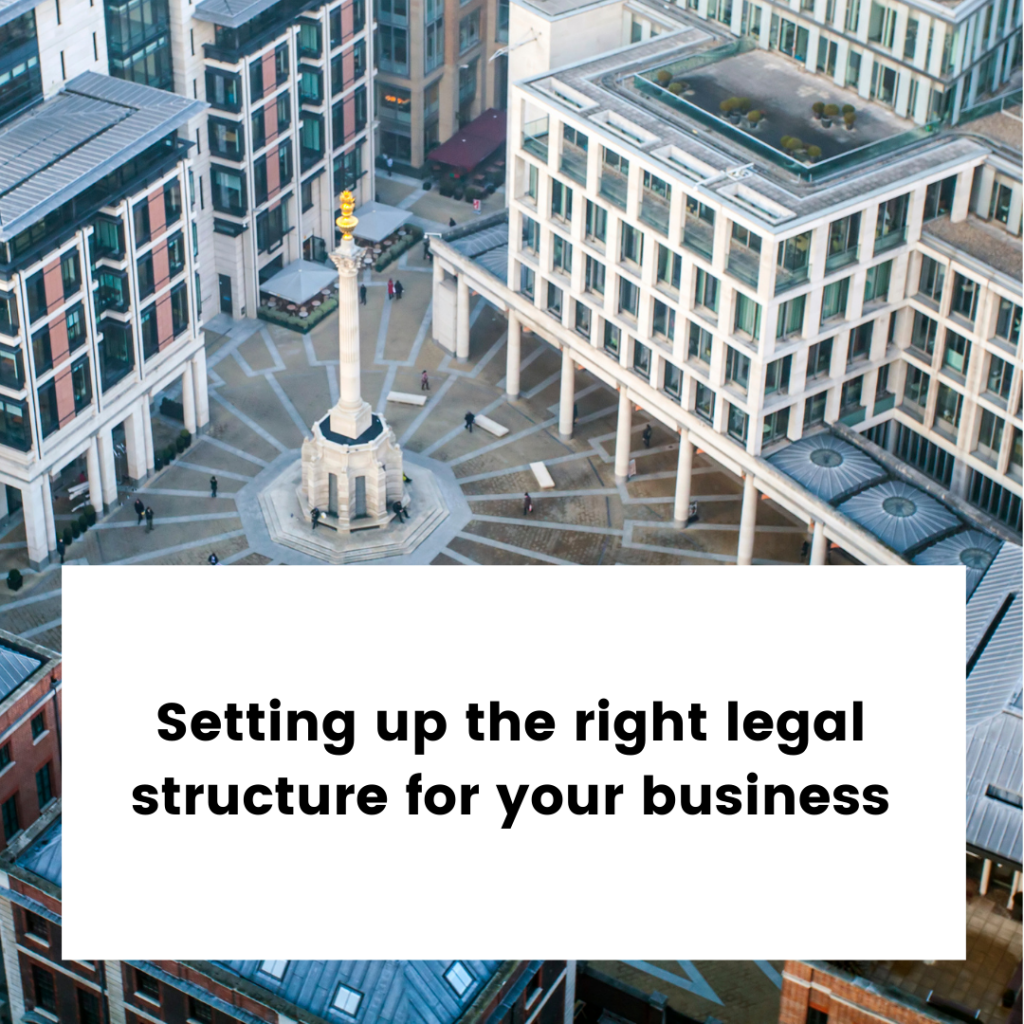 New Start Ups Legal Structures